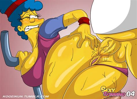 Simpsons hentai homer fucks marge jpg 886x645